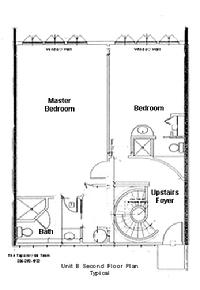 Flaglers Landing in Key West bedroom floorplan